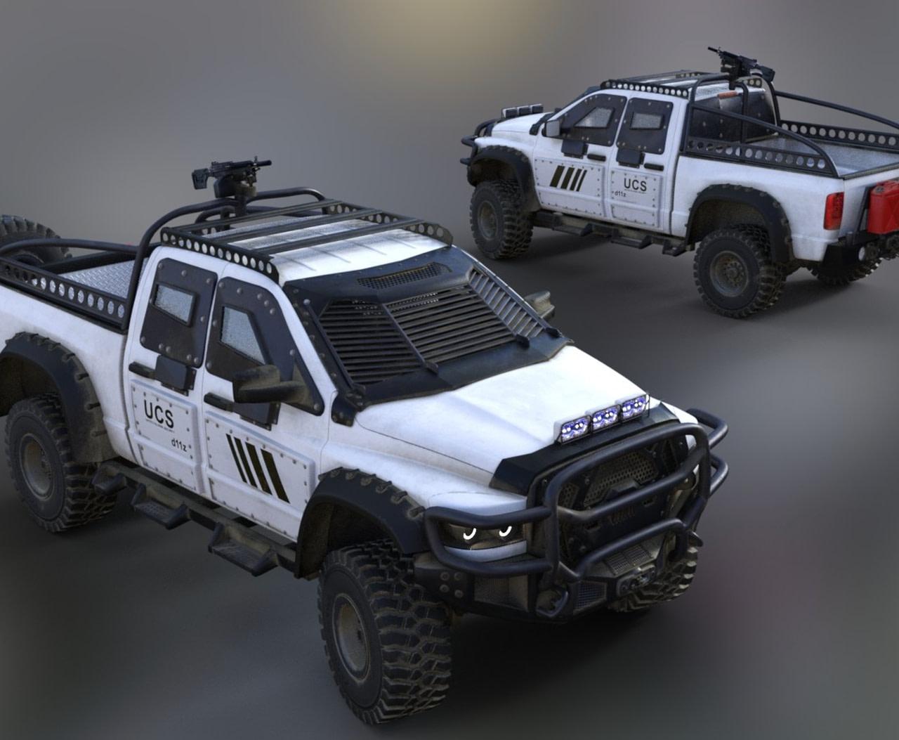 bighorn patrol police truck 3d asset