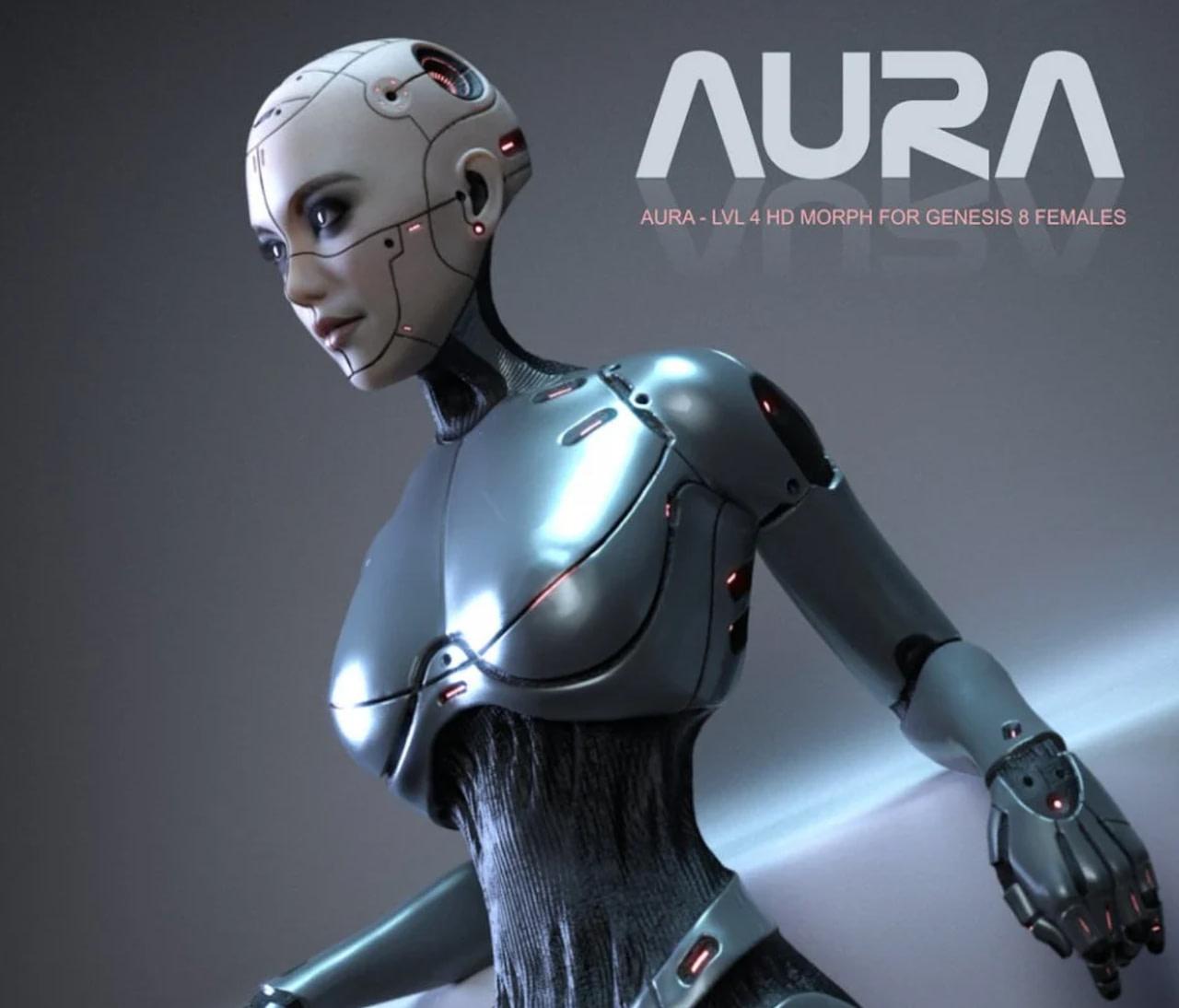 daz3d cyborg aura genesis 8 female