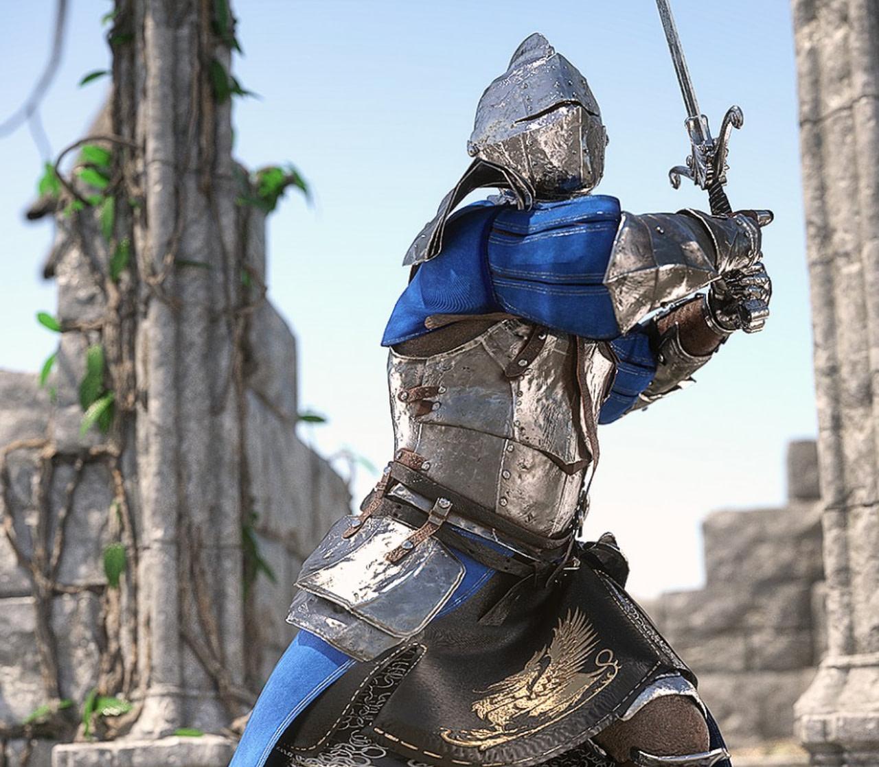 knight 3d model rendering