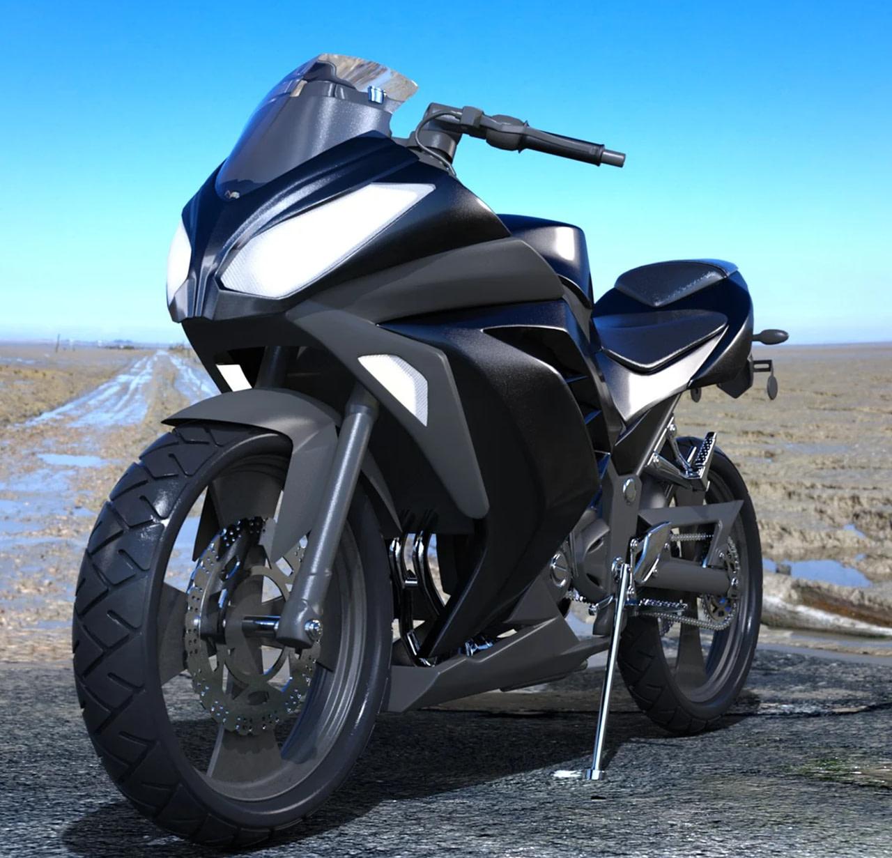 z sport motorbike 3d model