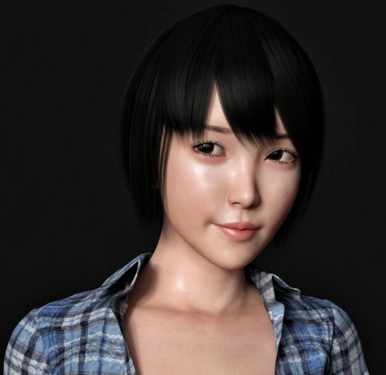 daz studio yuna character and hair