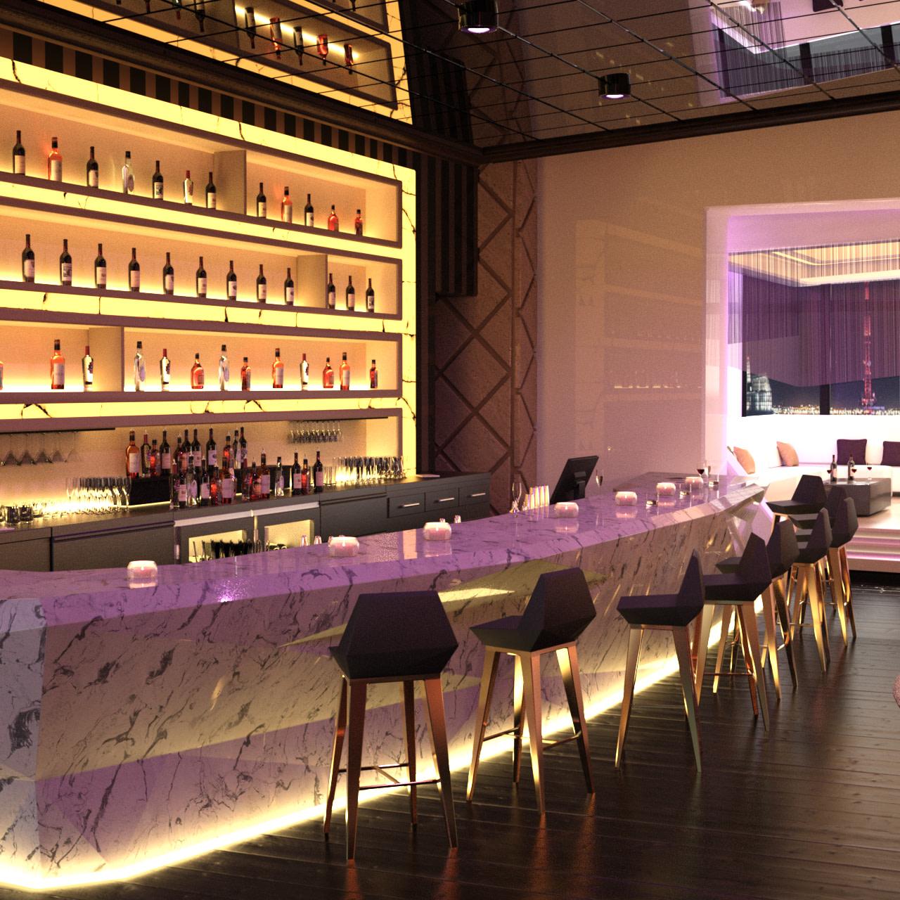night bar 3d model
