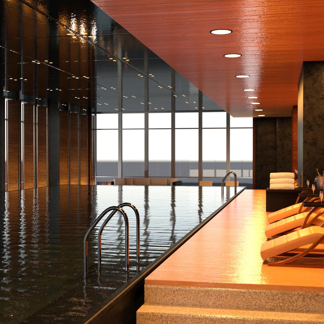 Rendering of pool entrance