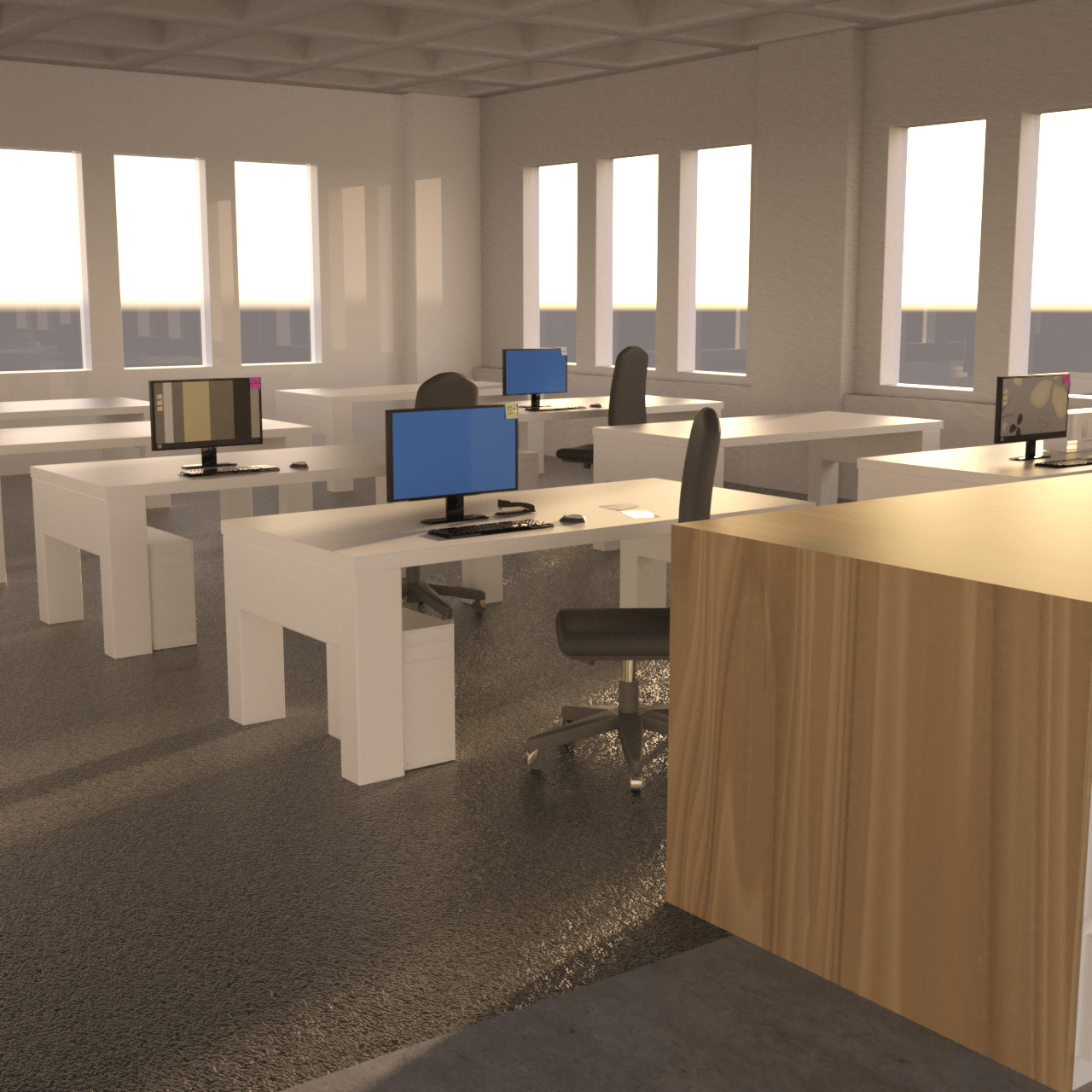 An overview of the whole office