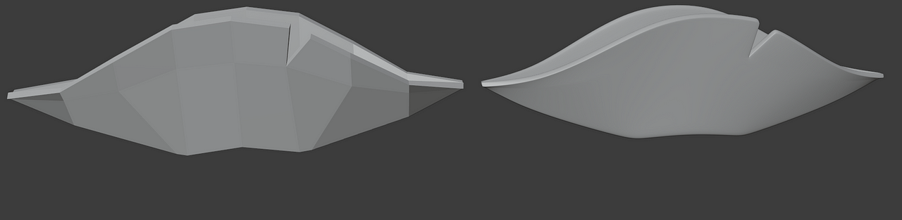 blender subdivision surface modifier in use