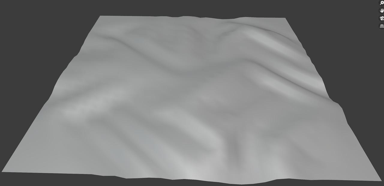 cloth brush expand deformation in blender