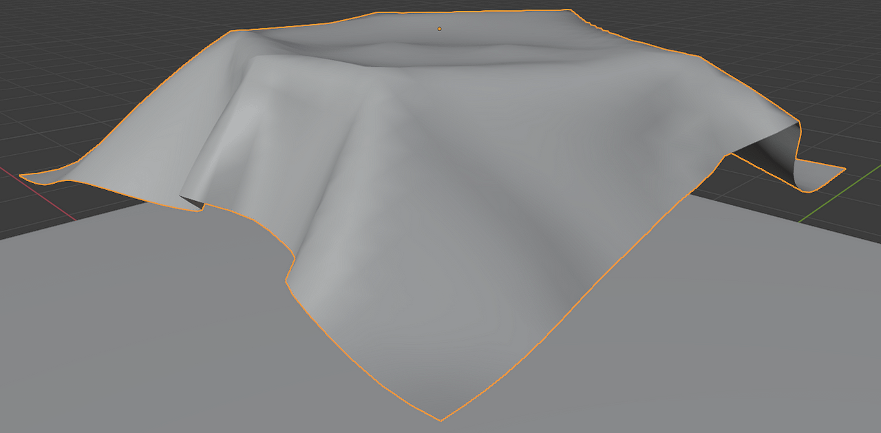 blender cloth simulation pin