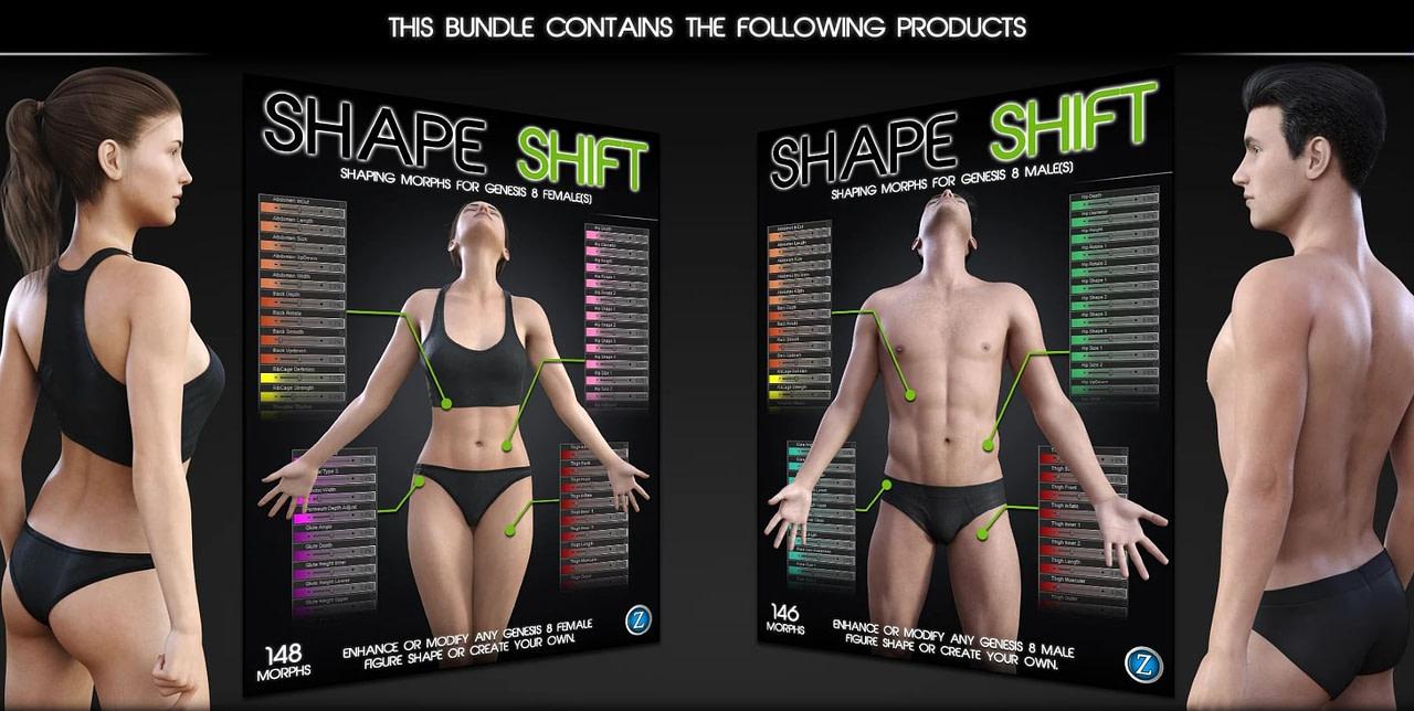 daz3d shape shift bundle