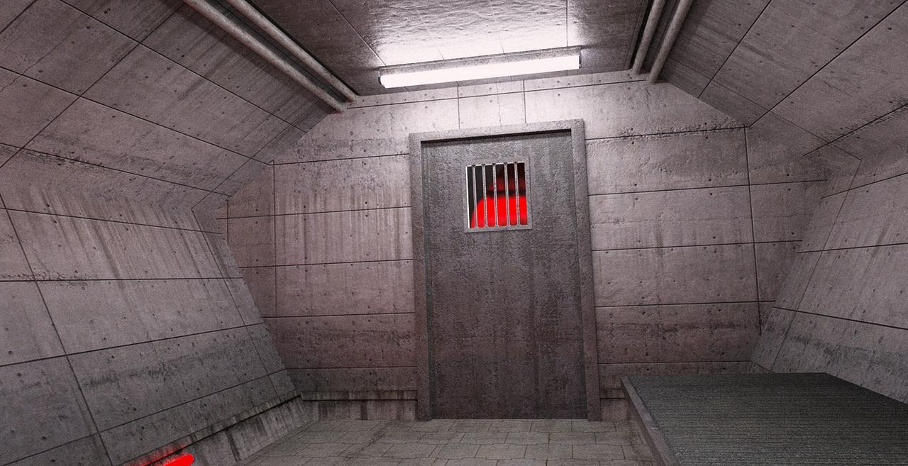 daz3d sci fi prison cell