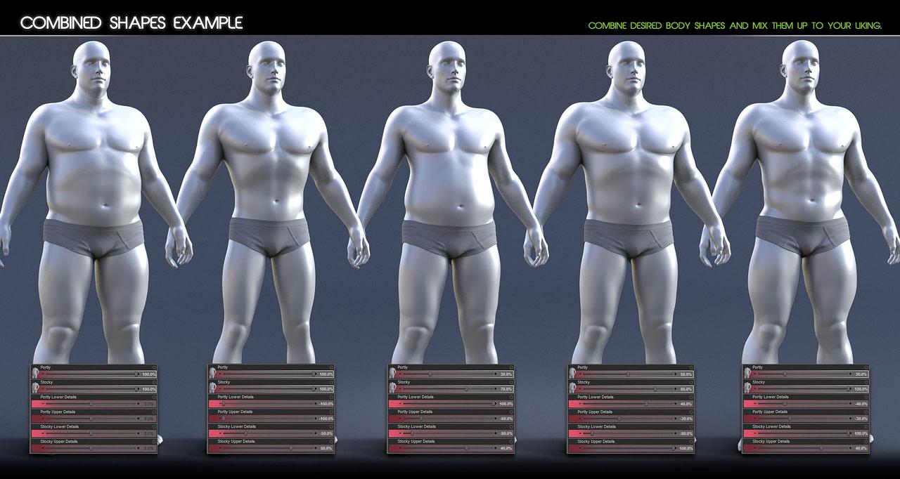 Body Mixer example for daz studio