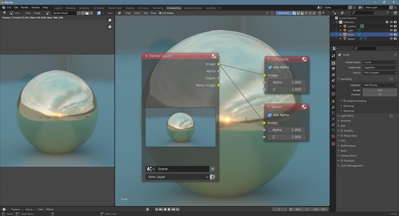 blender compositing beginner setup