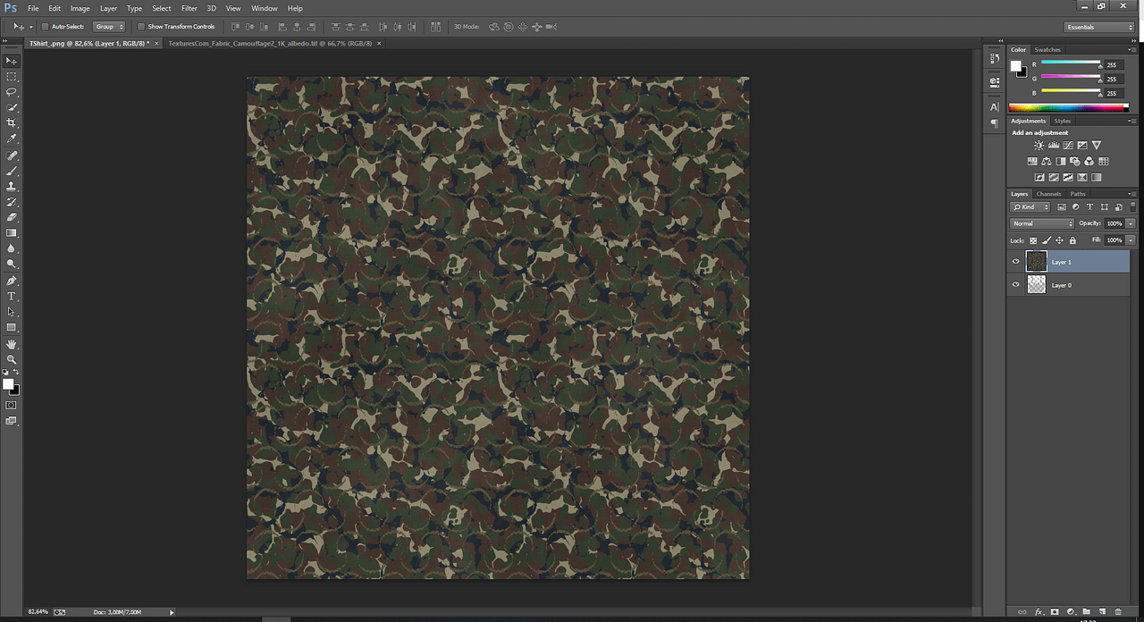 photoshop texture image import