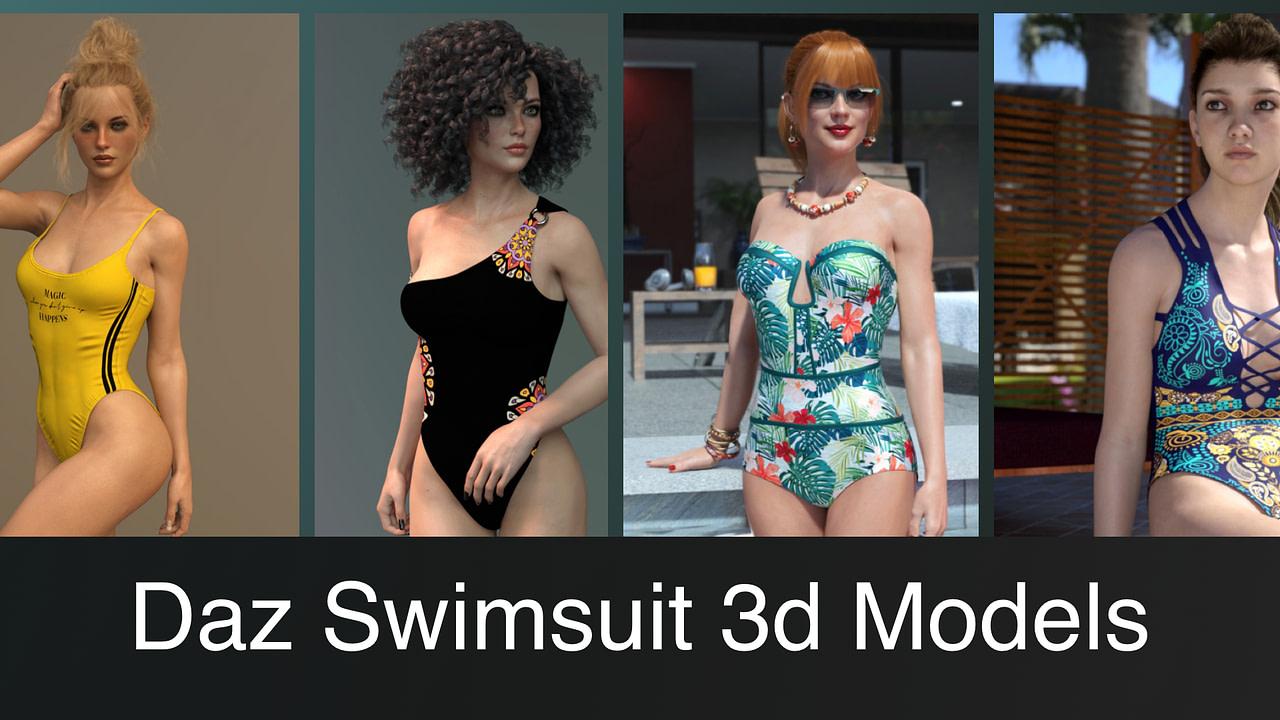 Top Daz3D Swimsuit 3D Models