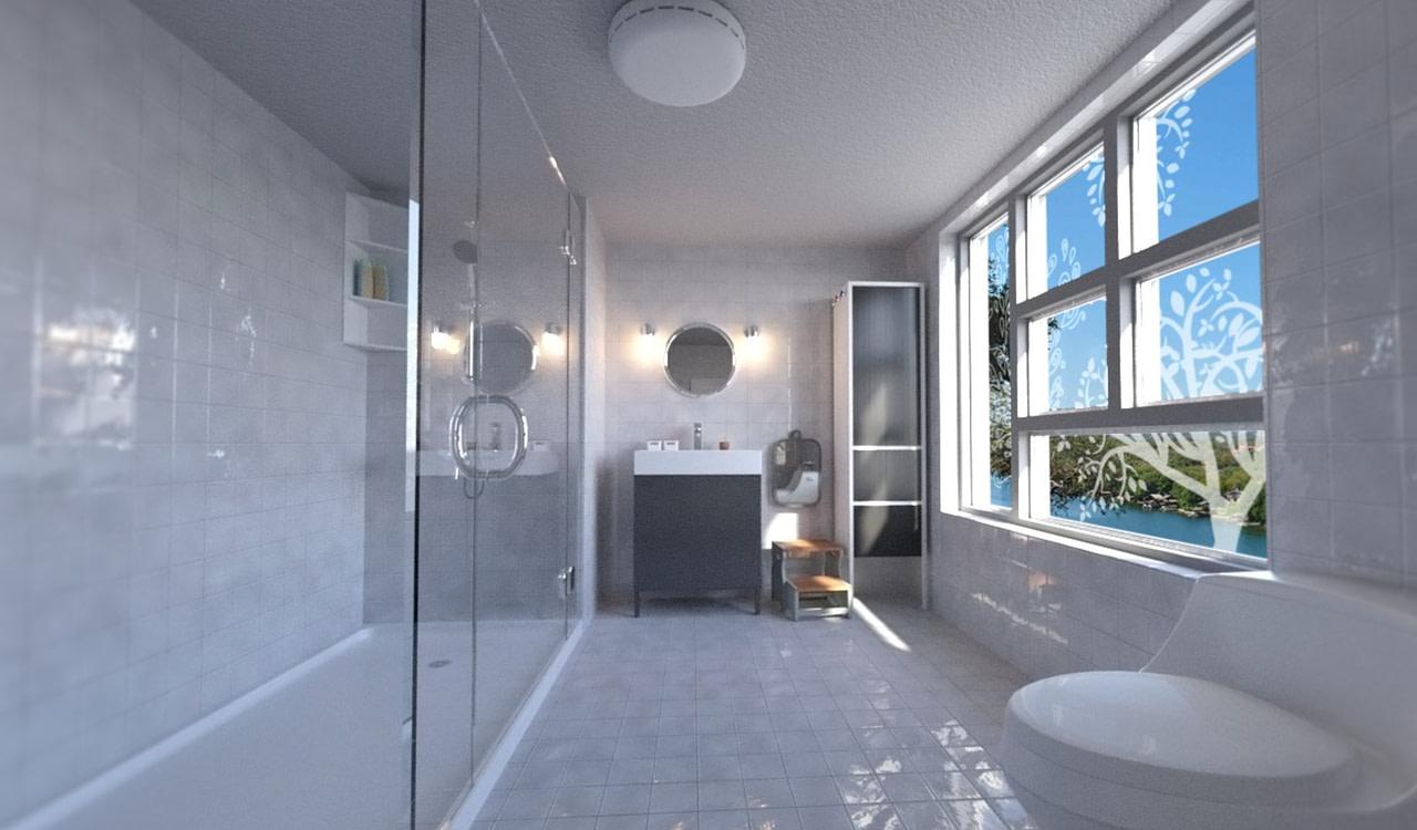 daz dl modern bathroom 3d model
