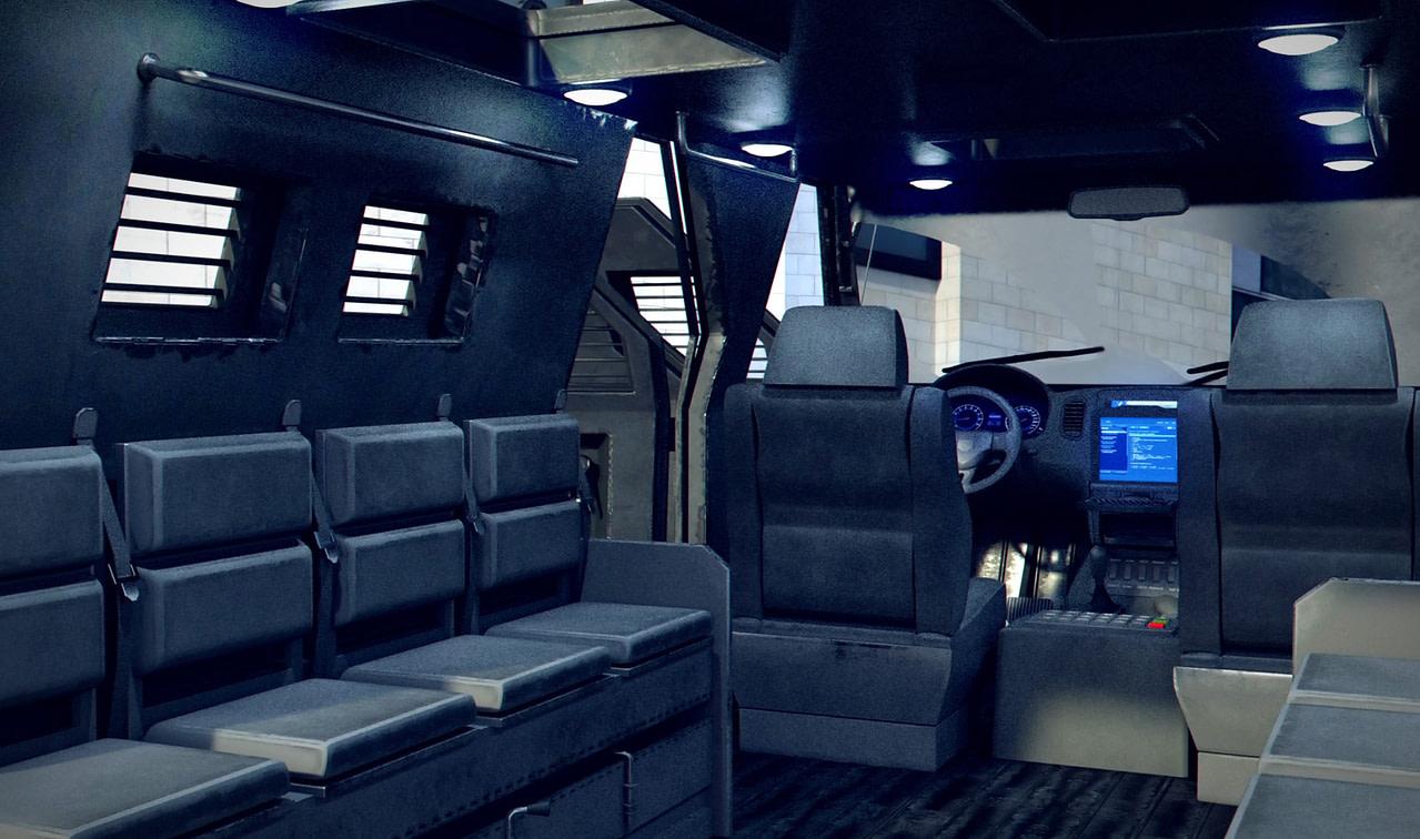 3d interior swat vehicle model