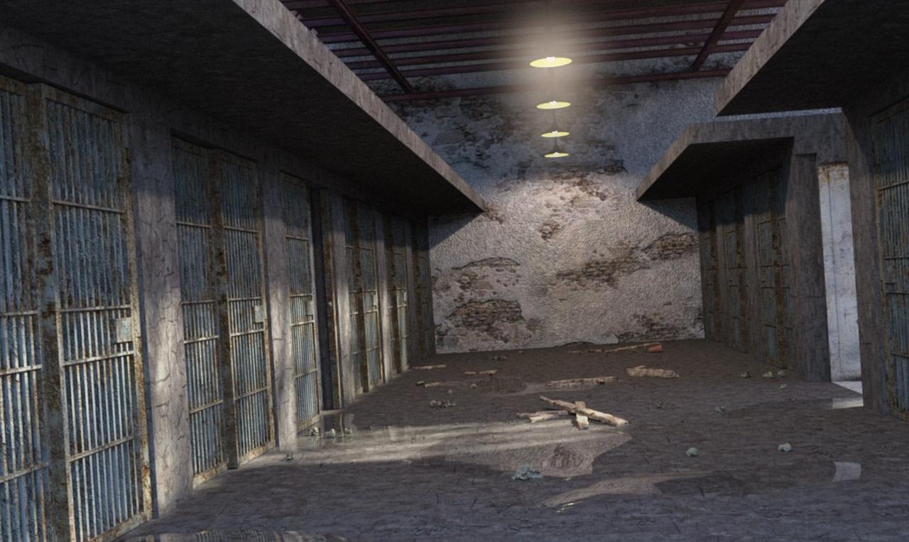 haunted prison cell daz model