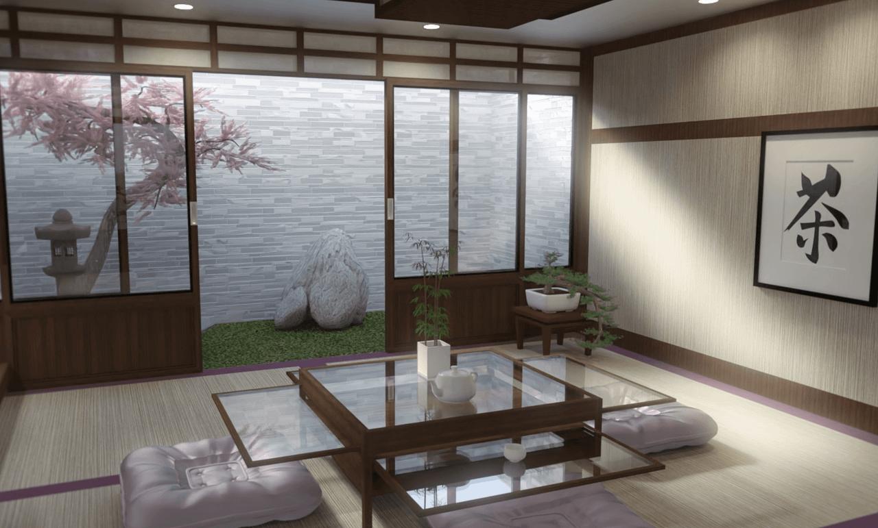 japanese dining room 3d model