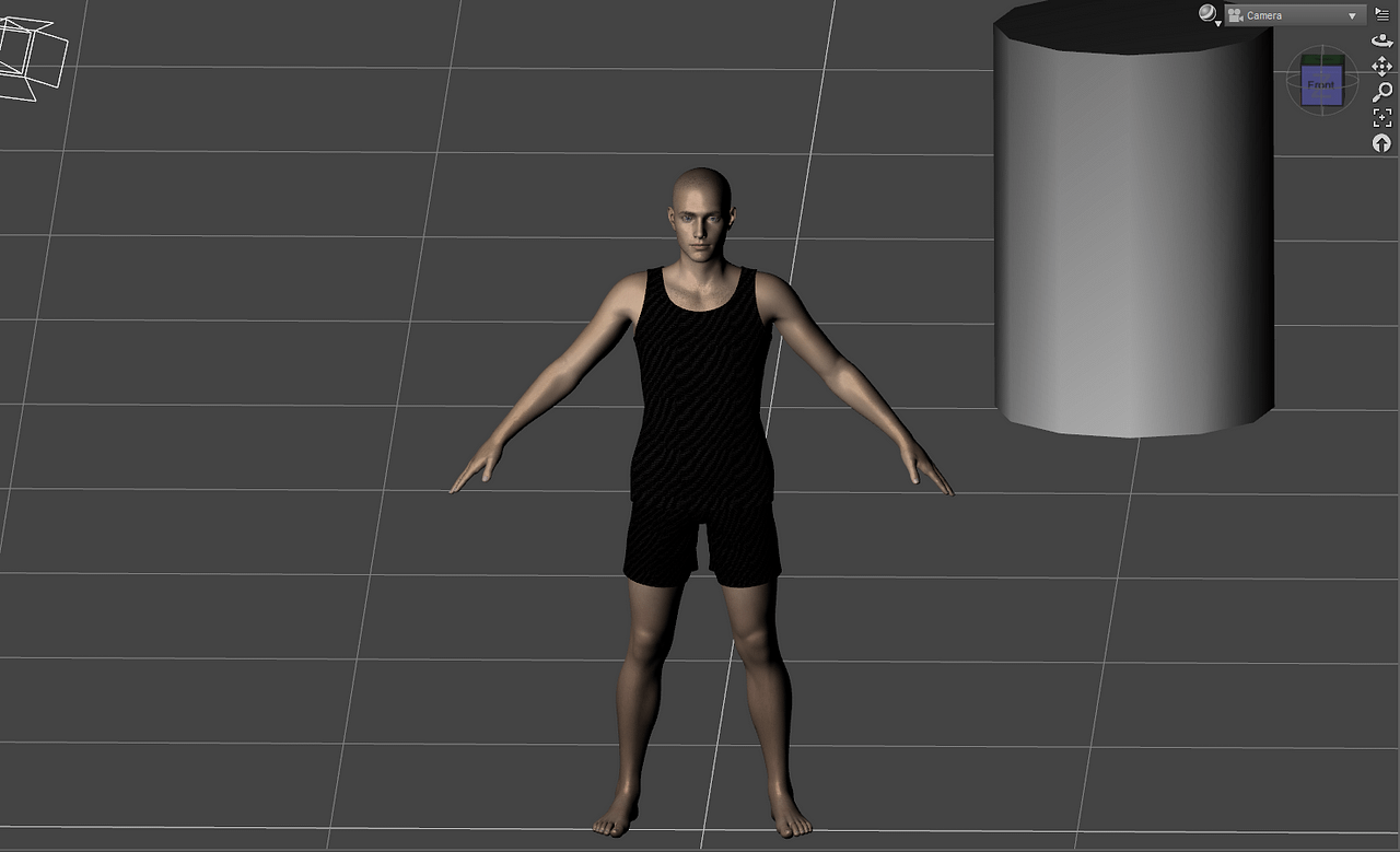 orthographic camera view in daz3d