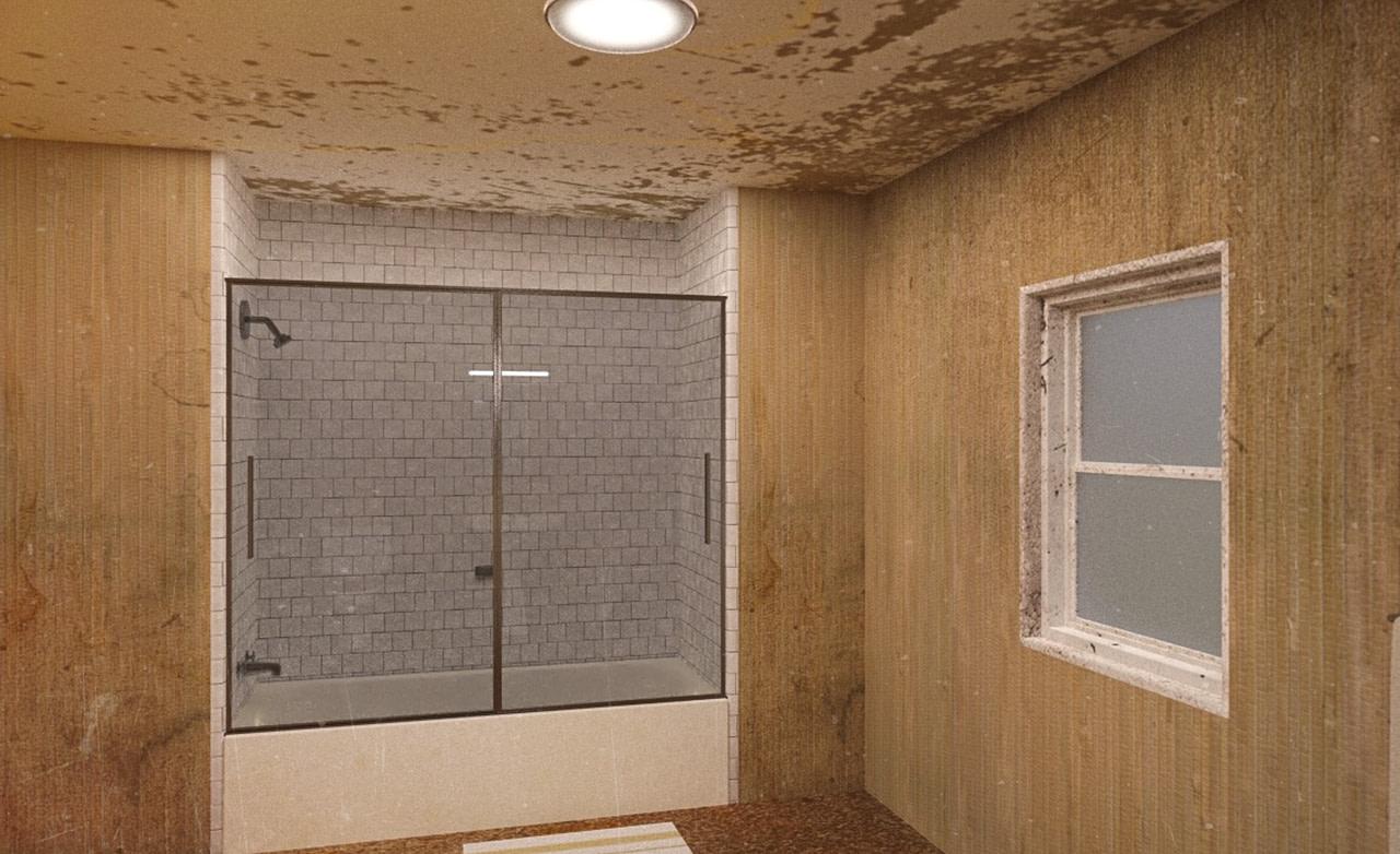 dirty motel bathroom 3d model