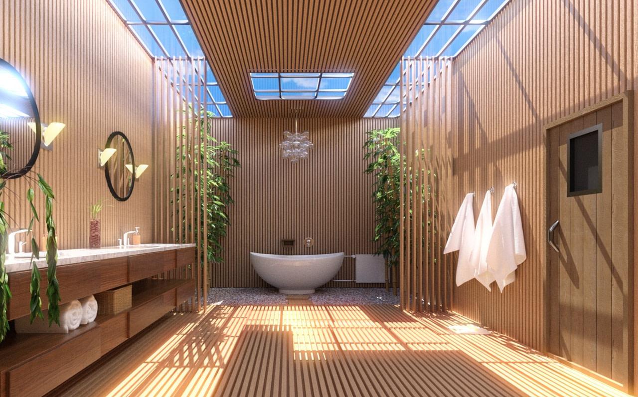 fancy japanese bath 3d model