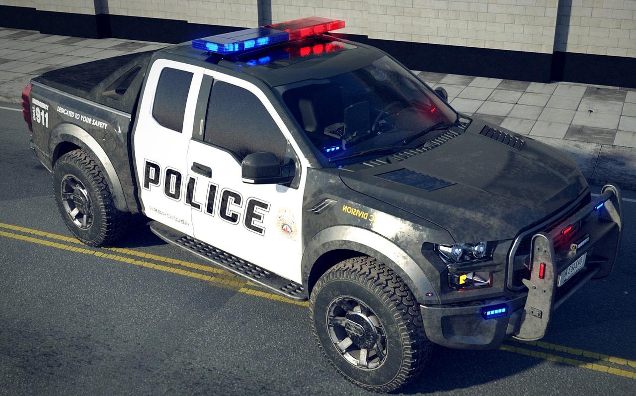 metro police truck 3d model