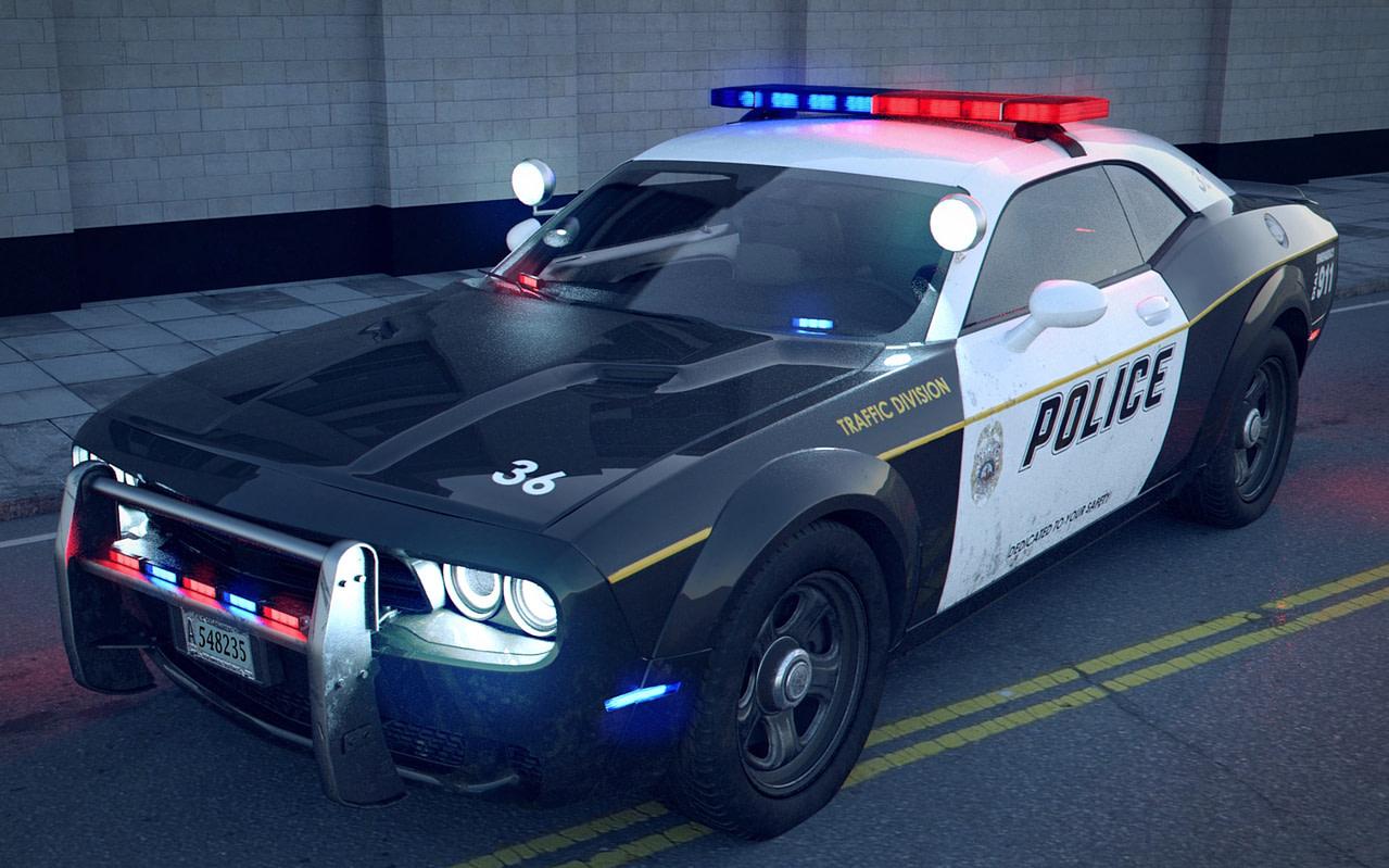 top metro police car 3d model