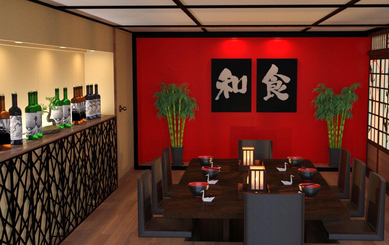 daz japanese restaurant 3d model