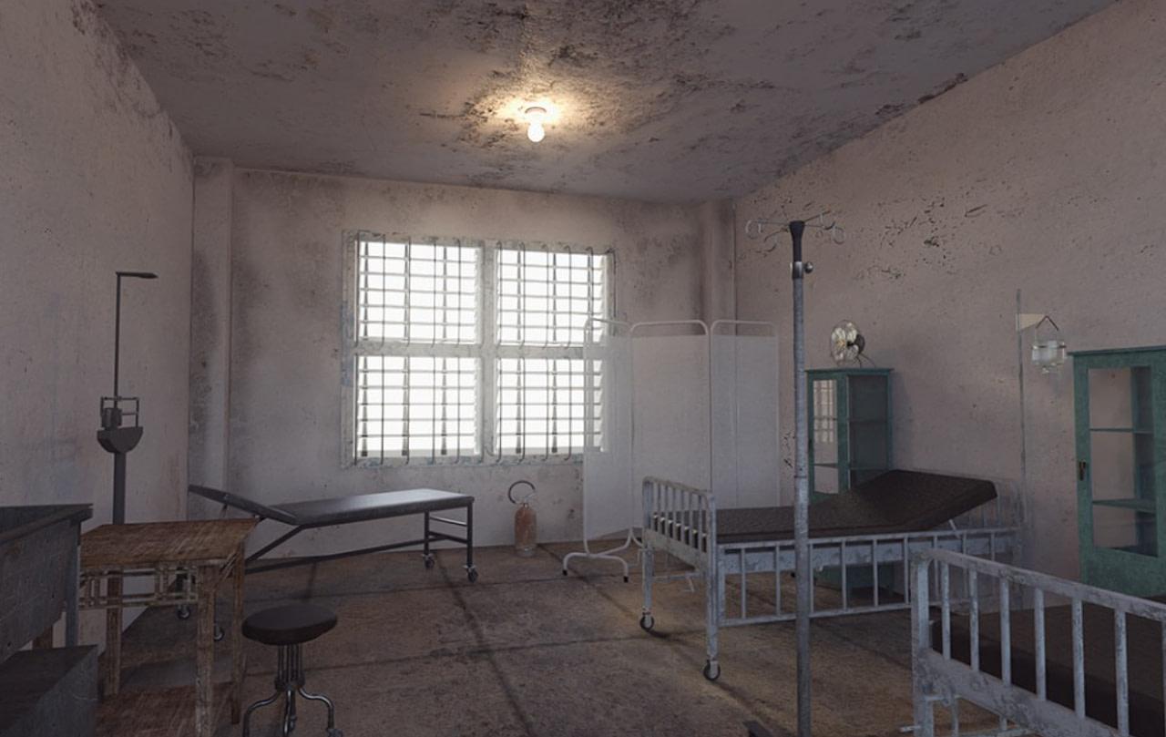 alcatraz hospital 3d model