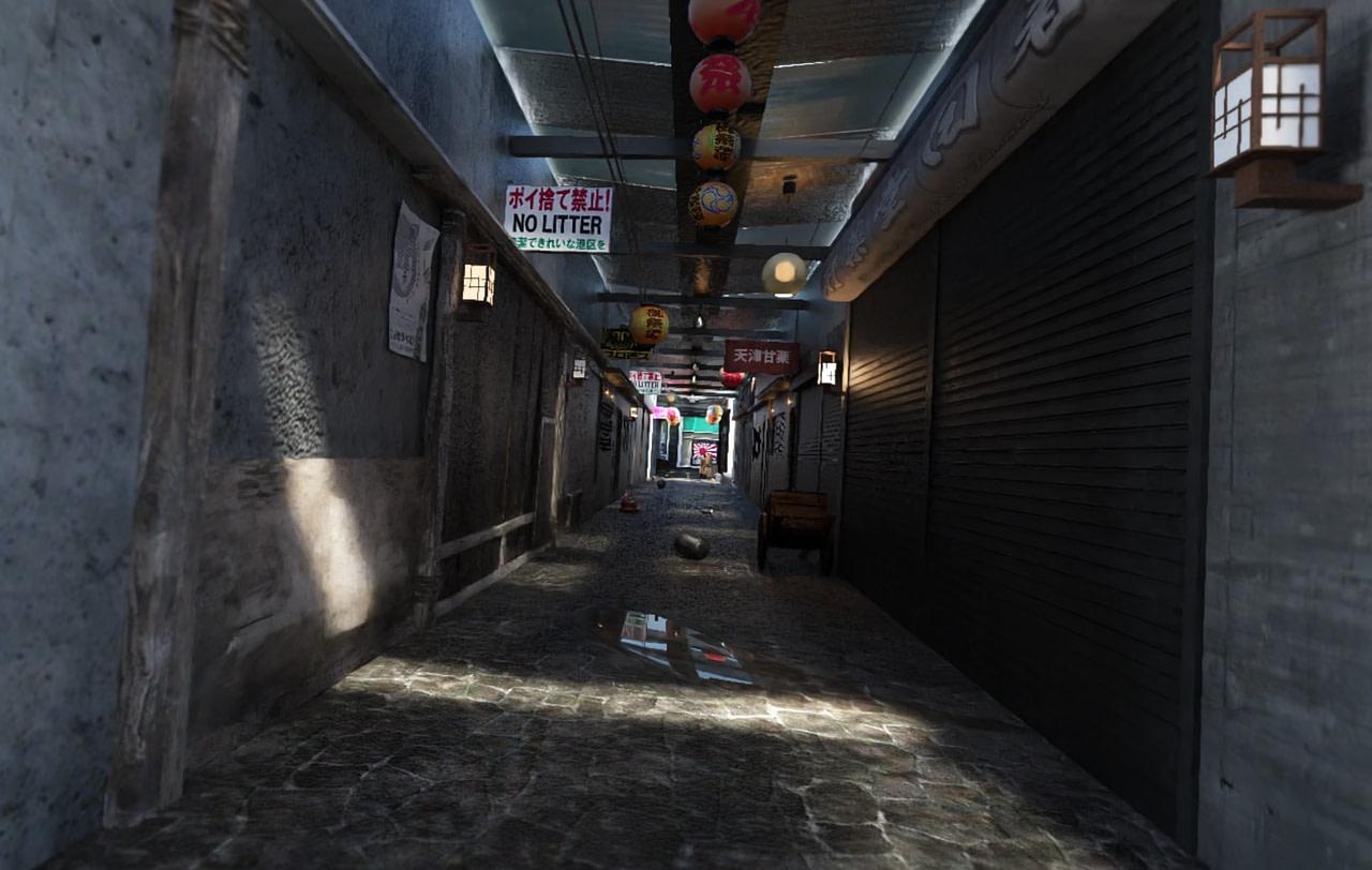 japanese store alley 3d model