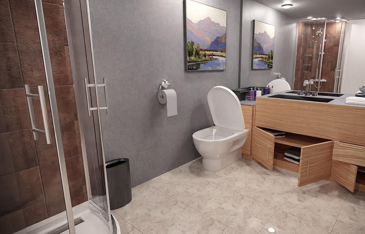 lovable bathroom 3d asset