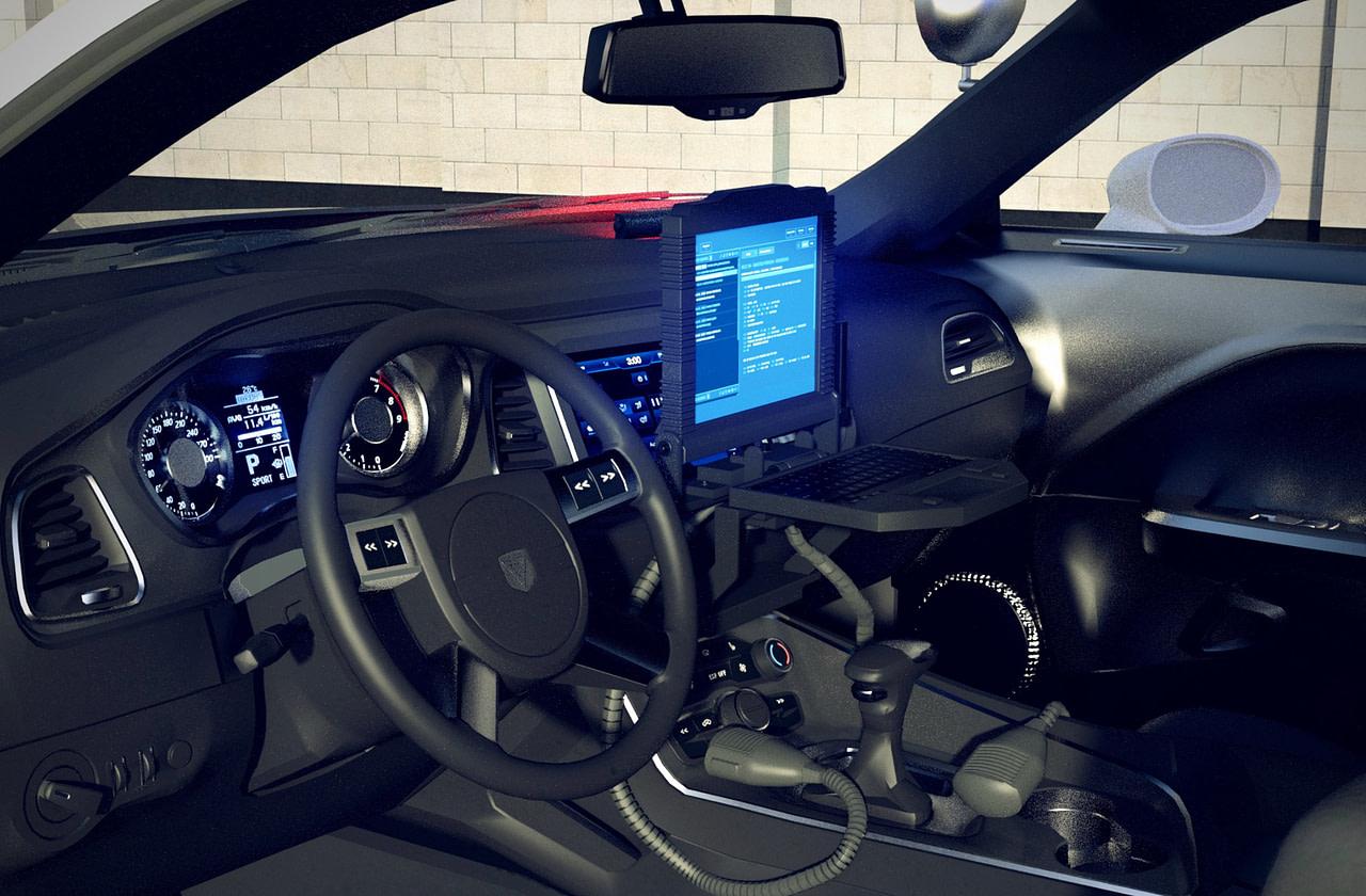 metro police car 3d interior