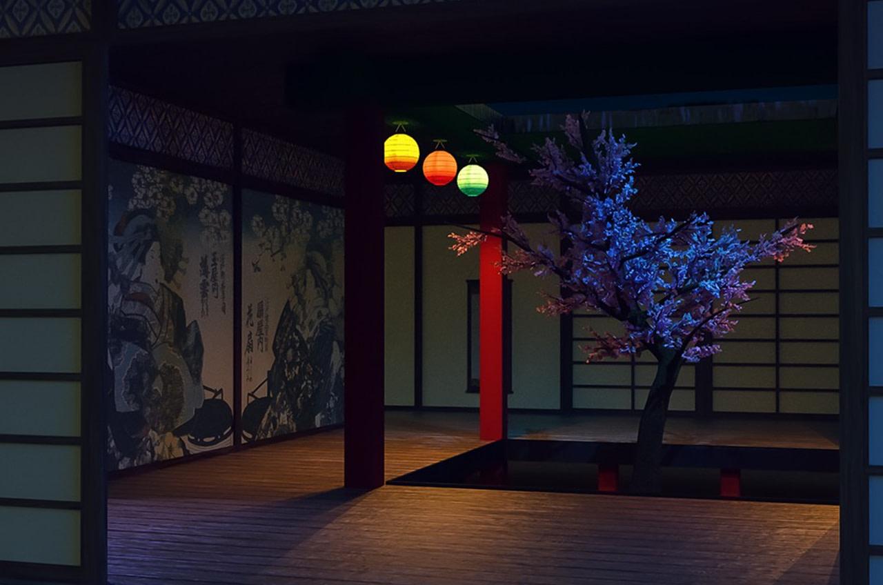 japanese tree room model daz