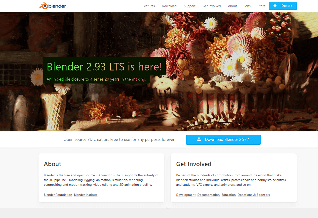 blender free main page