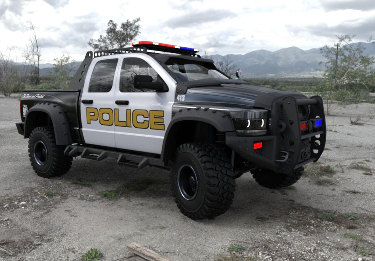police patrol vehicle 3d model