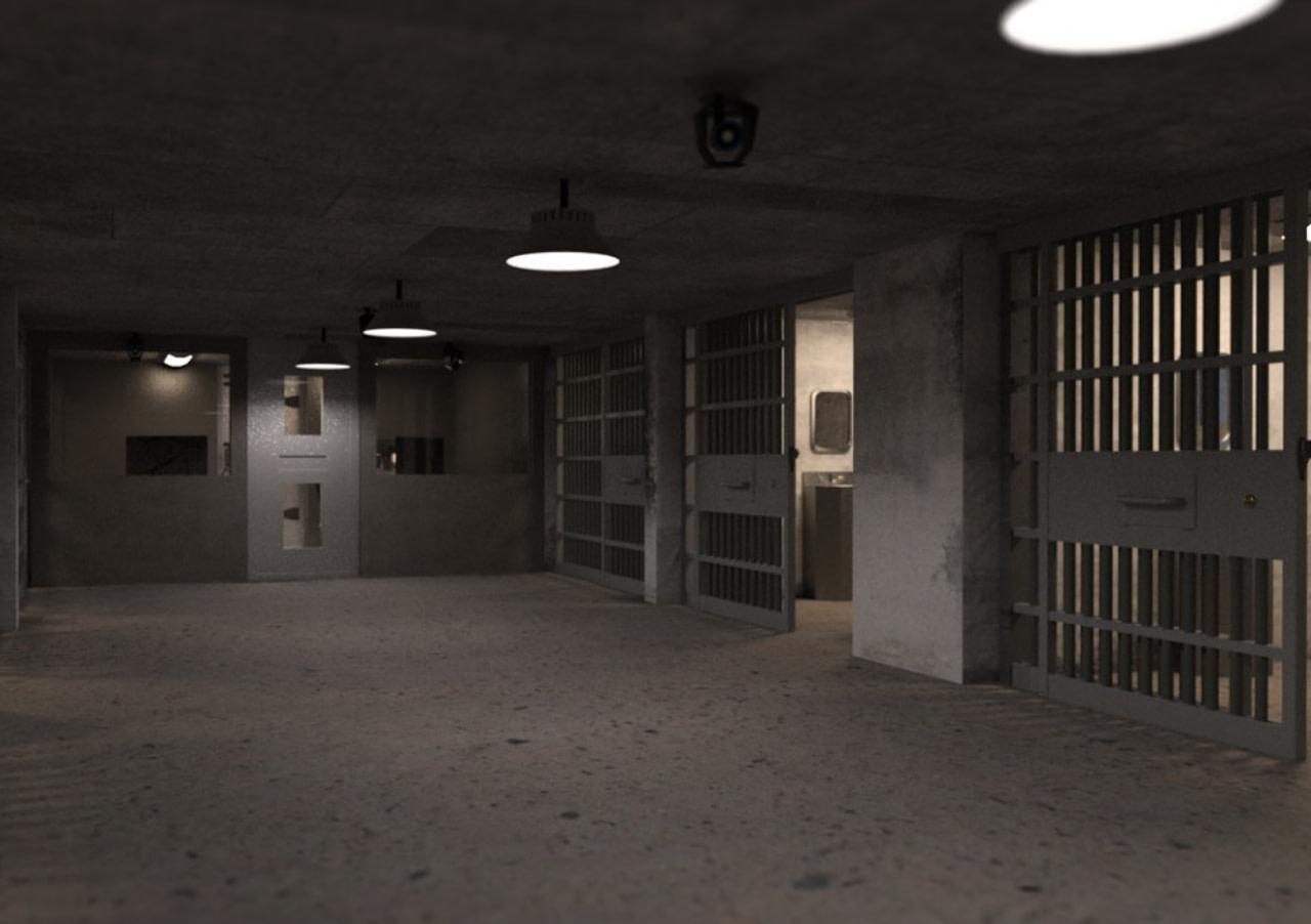 daz3d empty detention cell