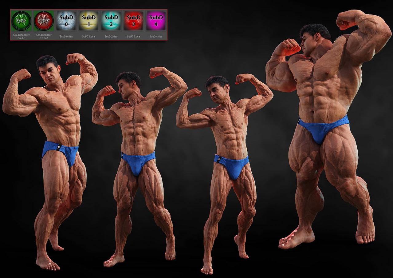 auto daz3d muscle enhancer