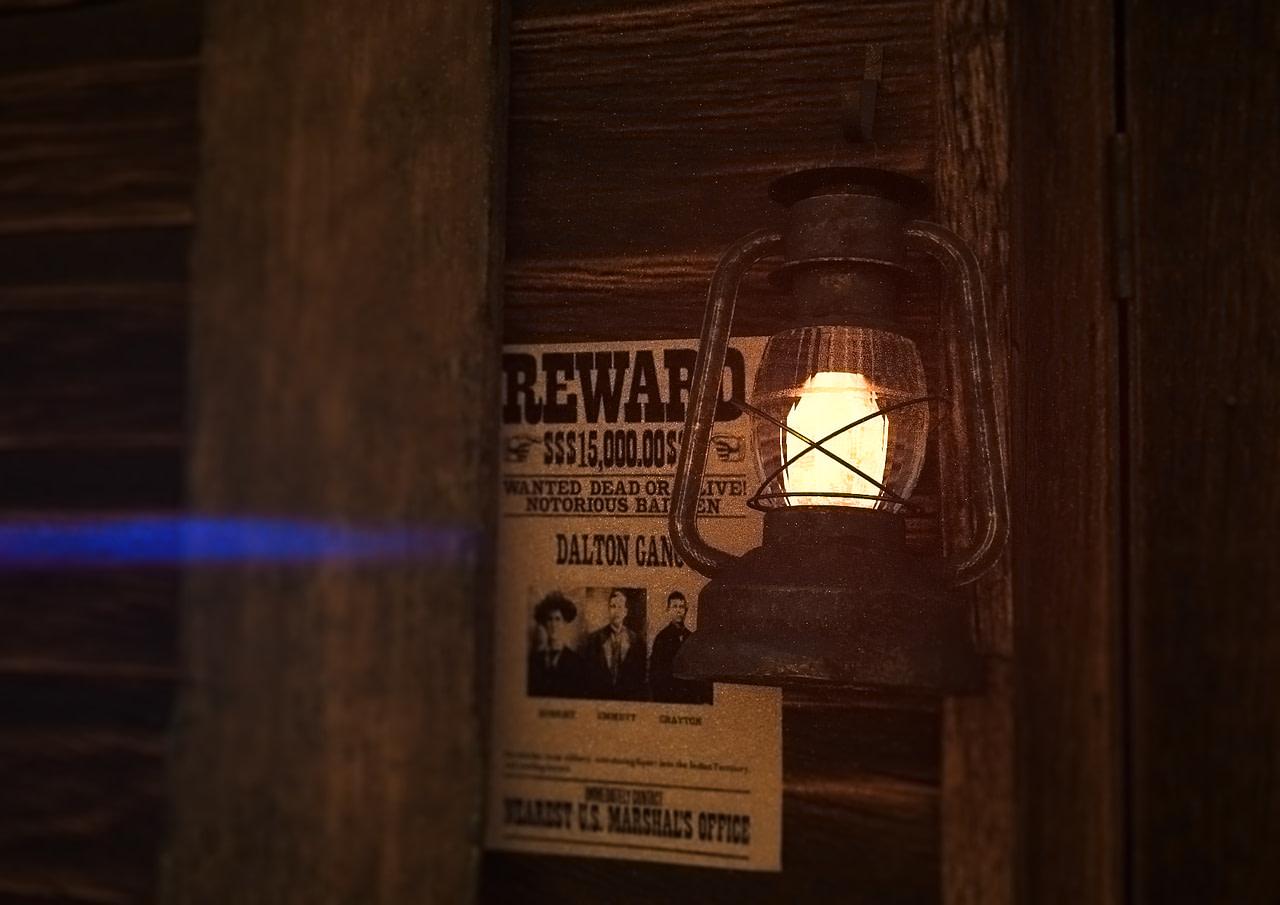 daz glow effect emision lantern wild west