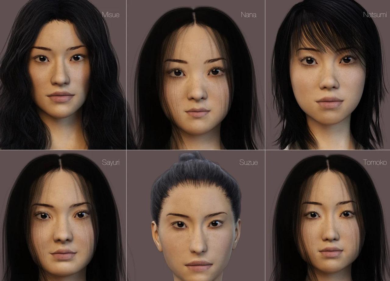 daz3d japanese women