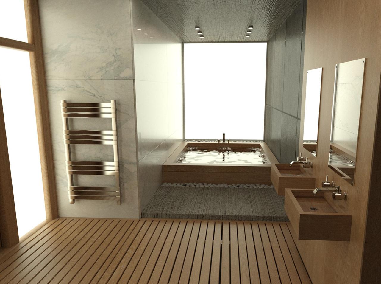 daz modern bathroom model