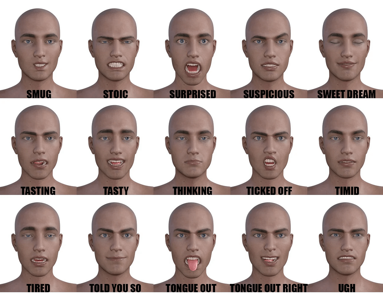 daz genesis 8 bundle expressions