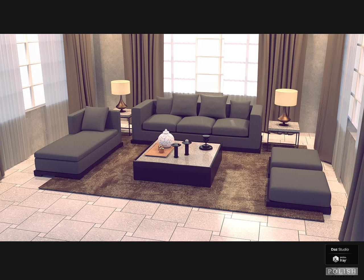 daz interior furniture bundle