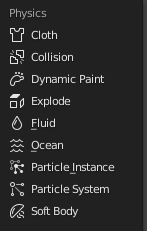 blender modifiers physics