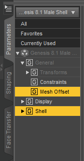 daz geometry shell offset
