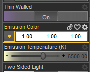 daz3d emission catchlight