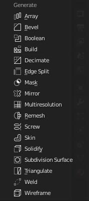 blender modifiers generate