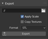 blender 3d printing export