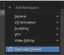 blender add workspace