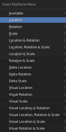 blender animation keyframe