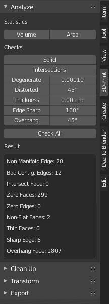 blender 3d printing analyze tool