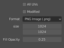 blender export uv settings